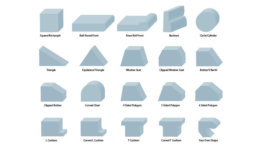 Foam Cut Sizes
